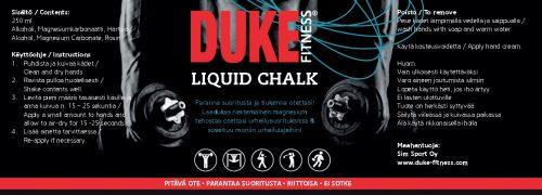 Laadukas tahnamainen ja erittäin riittoisa Duke Fitness liquid magnesium tehostaa otetta urheilusuorituksissa ja soveltuu hienosti moniin urheilulajeihin!