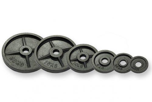 DUKE Fitness levypaino olympic 50mm -lisälevyt ovat sopivia laakeroituihin painonnosto- ja hauistankoihin