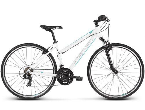 Monipuolinen ja sporttinen naisten Kross Evado 1.0 hybridi polkupyörä kuljettaa ajajan uusiin maisemiin, tyylikkäästi, kevyesti ja edullisesti!